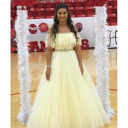 $enCountryForm.capitalKeyWord UK - Sweet Prom Dresses Off Shoulder A-Line Long Gown Lace Tulle Long Prom Dressess Evening Gowns