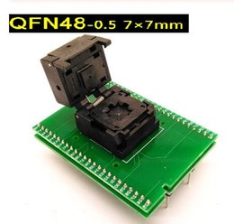 pin programming NZ - QFN48 burning base 0.5 pitch 7*7 mm flip shrapnel burning base programming base pin pitch 0.5mm.