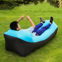 lazy bag chairs NZ - Outdoor Inflatable Sleeping Bag Air Bed Sofa Lounger Air Couch Chair Folding Lazy Bag Beach Hiking Fishing Camping Equipment