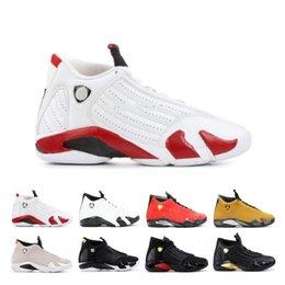 $enCountryForm.capitalKeyWord Australia - 14 Fashion 14s Candy Cane Black Toe Fusion Varsity Red Suede Men Basketball Shoes Last Shot Thunder Black Yellow Dmp Sneakers