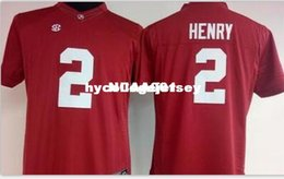 2e50bb8b0 Cheap Men  2 Derrick Henry Alabama Crimson Tide Top high quality red black white  College Jersey or custom any name or number jersey