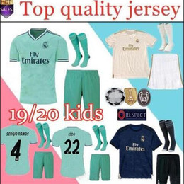 4d911342e KIDS kit+SOCKS 2019 2020 real Madrid home soccer jerseys Kit 19 20 away 3rd  modric MODRIC ASENSIO ISCO RAMOS Marcelo BALE Football Shirt