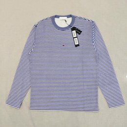 19SS T0PST0NEY 244X9 LONG SLEEVE MARINA stripe T-SHIRT Letter 3M Reflective Fashion T Shirt Tee Casual Men Women HFLSTX506