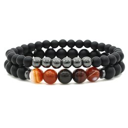 natural scrubs UK - Natural Volcanic Stones jewelry scrub bead energy stone agate bracelet handmade beaded magnet bracelet