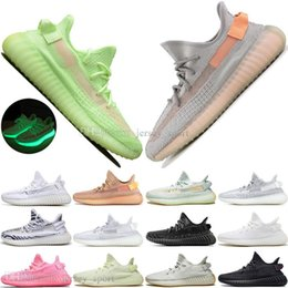 cheap kanye shoes UK - Cheap Kanye West Clay 2.0 Static Reflective GID Glow In The Dark Mens Running Shoes Hyperspace Tru ss