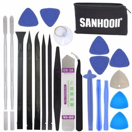 Discount wholesale tv cell phones - SANHOOII 22in1 Mobile Cell Phone Repair Screen Opening Tools kit Metal Spudger Pry Table TV Box Toy Game Console Repairi