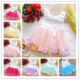 Discount best knee balls - Baby Girls Dress 2019 Summer Floral Flower Sleeveless dresses Girls Mesh Tulle TUTU Beach Skirt Kids Princess Wedding Dr