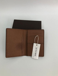Wholesale 2018 fashion designer credit card holder high quality classic leather purse folded notes and receipts bag wallet purse distribution box