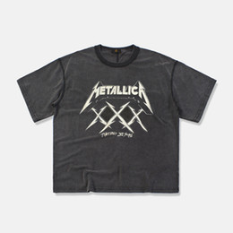 Wholesale tshirt printings god online – design 19ss METALLICA Fear of God T Shirt D Summer Mens Short Sleeve Tee Tops Harajuku Embroidery Rock and Roll Band Metallica Tshirt