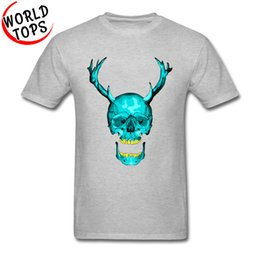 5ca14cdd0 2019 mens designer t shirts Novelty Design Mens Tee Shirts Pure Cotton  Round Collar Leisure Tshirts Frank Skull Printed hoodie