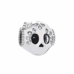 7e0488927 Pandora Charms Skulls Australia - 2019 Summer 925 Sterling Silver Sparkling  Skull Charm Bead For European
