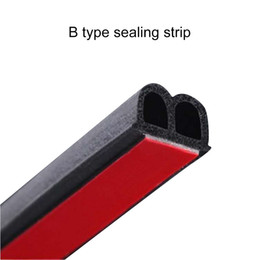 car sealing Australia - B Type 2M 3M Adhesive Car Door Sealing Strip Sound Insulation Weatherstrip Edge Trim Noise Insulation For Car Rubber Door Seal