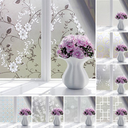 Wholesale 45 cm Waterproof PVC Frosted Glass Window Privacy Film Sticker Bedroom Bathroom Self Adhesive Film Home Decorative Film