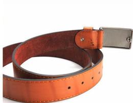 Ingrosso Cintura cross border per giovani uomini fashion all-match in pelle di vacchetta liscia fibbia per lettere versione coreana cintura casual per uomo05
