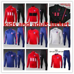 TracksuiTs Thailand online shopping - Top quality Atletico Full zip jacket set Madrid Sportswear JOAO FELIX MORATA CORREA Thailand quality tracksuit kit