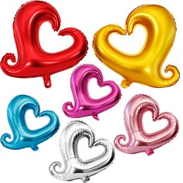 Wholesale 18 Love Heart hook Balloons Foil Helium Aluminium Coating foil Decor inch marriage Wedding Party Xmas Halloween Novelty Gag Kids Toys