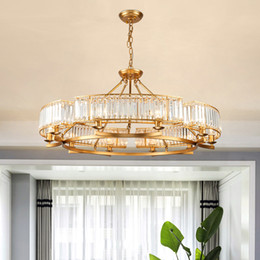 luxury kitchens designs UK - New design modern crystal chandelier lighting luxury gold crystal chandeliers American led pendant lights fixtures for living room bedroom