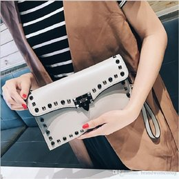 $enCountryForm.capitalKeyWord Australia - Best selling bag designer shoulder bags Women's new Messenger Package Fashion Luxury Rivet TemPerament Envelope bags PU Leather Free shippin