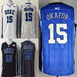 $enCountryForm.capitalKeyWord Australia - Men college Duke Blue Devils jerseys white black blue #15 Jahlil Okafor adult size basketball jersey stitched mix order free shipping