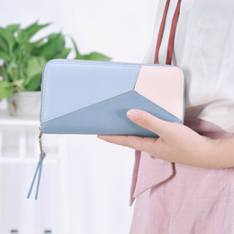 $enCountryForm.capitalKeyWord Australia - Women's Fashion Long Wallet Zipper Patchwork Contrast Color Simple Design Students' Purse Ladies' Cute Clutch Bag Hit Color