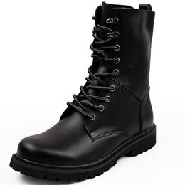 $enCountryForm.capitalKeyWord Australia - 2018 Men High Boots Fur Fashion Warm Lace Up Split Leather Army Boots High Quality Men Boot Shoes Winter Men Motorcycle Boots