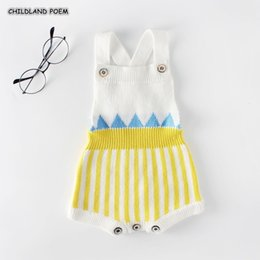 $enCountryForm.capitalKeyWord Australia - Knitted Woolen Newborn Infant Knit Rompers Jumpsuit Outfits Boy Stripe Soft Autumn Baby Clothes For BoysMX190912