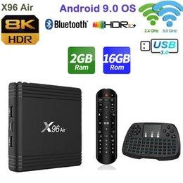 X96 Air Amlogic S905X3 mini-Android 9.0 TV BOX 4GB 64GB 32GB Wi-Fi 4K 8K 24fps X96Air 2GB 16GB Set Top Box em Promoção