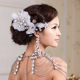 Shoulder Necklace Jewelry Australia - crystal necklace Vintage Bridal Shoulder Strap Luxury Wedding Jewelry Long Crystal Necklace Chains Jewellery Chain Accessories For Women