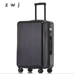 Spinner Carrying Case Australia - Top Quality Rolling Luggage Travel Suitcase Business Trolley Case Carry Bag 4 Wheel Spinner All Black Hardside Luggage