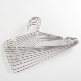 $enCountryForm.capitalKeyWord Australia - Stainless Steel Hangers Children's Hangers Home Clothes Support Anti-skid Clothes Hanging Metal Clothes Rack Rounded Curved Groove Design
