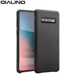 $enCountryForm.capitalKeyWord NZ - Qialino Fashion Genuine Leather Back Cover For Samsung Galaxy S10 5.8 Inches Luxury Handmade Phone Case For S10 Plus 6.4 Inches J190701