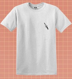 $enCountryForm.capitalKeyWord Australia - Knife Badge T-shirt Indie Hipster Tattoo Grunge Tee Feelings Drawn Tumblr Top