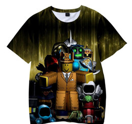 Plus girls hot online shopping - Boys Girls Summer Short Sleeve T shirts Children Hot Game Roblox D Print Tshirts Clothes Kids Casual O Neck Tee Tops Costume