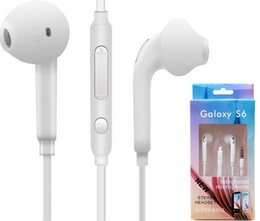 headset mic jack NZ - S6 S7 Earphone Earphones J5 Headphones Earbuds iPhone 6 6s Headset for 3.5mm Jack In Ear wired With Mic Volume Control White With RetailBox