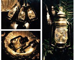 $enCountryForm.capitalKeyWord Australia - 10 LED AA Battery Operated Metal lantern String Light Wedding Garden Christmas Home Party Decor Strings