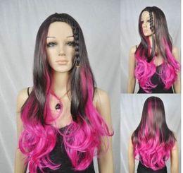 $enCountryForm.capitalKeyWord Australia - Wholesale price Hot Sell TSC^^^ long curly roseo brown plait bang women cosplay hair wig