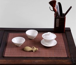 bamboo insulation pad Australia - Linen Coasters Foldable Placemat Insulation Pad Tea Banquet Japan Style Bamboo Tea Cup Mat Zen Tea Accessories ZJ0509