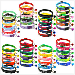Discount dog collars designer 48 Colors Pet Dog Collar Cute Dog Pawn Love Heart Shape Collars Durable Dog Cat Reflective Paste Pet Leash Pets Supplies