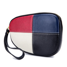 Cow Leather Hand Bags Australia - Women's Clutch Bags For Women Cow Leather Hand Bag Female Long Money Wallets Mobile Phone Pouch Women Party Clutch Coin Purse