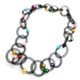 Discount necklace pipes - YD&YDBZ New Lace Pipe Pendant Necklace Women Multicolor Pearl Necklaces Long Choker Two Bohemia Jewelry Fashion Trendy J