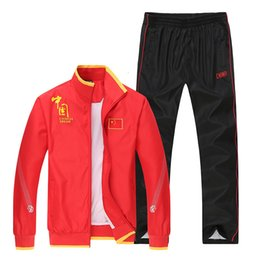 Linen running shorts online shopping - Autumn Motion Suit Long Sleeve Men And Women Student School Uniform Run Leisure Time Motion Receive A Prize China National Team Appearance