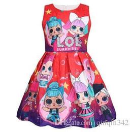 $enCountryForm.capitalKeyWord UK - HOT lol dolls cartoon printed kids designer girls tutu dress sleeveless summer new brand 2019 100-140