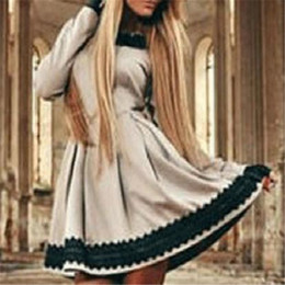 Wholesale skater dresses for sale - Group buy Women s Skater Dress Long Sleeve Lace Above Knee Evening Khahi New with Tags Size S XL