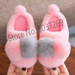 $enCountryForm.capitalKeyWord Australia - Children Home Slippers For Girls Winter Shoes Kids Baby Cotton Warming Shoes Boys Indoor Slippers Thicken Plush Non-slip