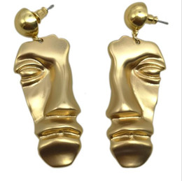 $enCountryForm.capitalKeyWord Australia - New Golden half face mask earrings women fashion wild does not fade plating 18K gold clothing accessories