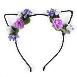Wholesale angel costumes for women online – ideas Korean Cloth Floar Flower Headband Angel Costume Halloween Festival Hair Accessories for Women Makeup