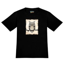 Owl Tree Branch Australia - Artsy Owl Perched on Tree Branch Men's Novelty T-Shirt cattt windbreaker Pug tshirt