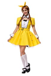 sexy movie cartoons NZ - Yellow Color Sexy Maid Costume Cute Cartoon TV Female Host Stage Costume Mardi Gras Carnival Fairy Tale Fancy Dress