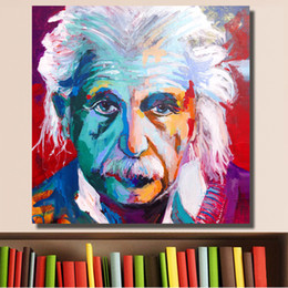 Portrait Oil Modern Australia - High Quality Handpainted & HD Print Modern Abstract Art Oil Painting Albert Einstein Portrait On Canvas Wall Art Home Office Deco p34