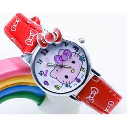 dc75df65c Fashion Children's belt watch KT Hello Kitty Cute cartoon girl watch  Explosion student quartz boys and girls reloj